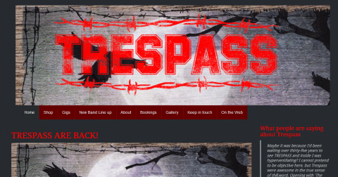 Trespass band site